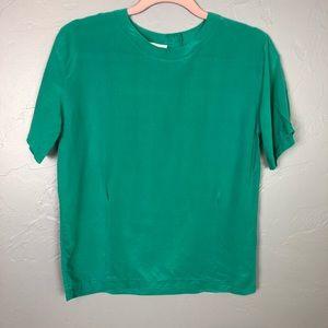 🐢Casual Corner 100% silk blouse size 4